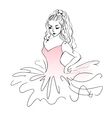 Sketch of ballerina Expressive performance girl vector image vector image