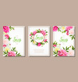 spring collection backgrounds with peones vector image vector image