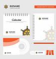 steering logo calendar template cd cover diary vector image vector image