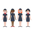 Stewardesses vector image