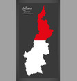 sulawesi barat indonesia map with indonesian vector image vector image
