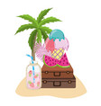 summer and tropical drinks vector image
