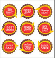 super sale and quality sticker collection vector image vector image