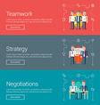 Teamwork Strategy Negotiations Flat Design vector image vector image