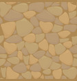 texture of stones in brown colors vector image vector image
