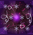 trendy merry christmas and new year background vector image