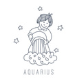 water-bearer Aquarius vector image