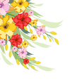 Watercolor Flowers Autumn vector image vector image