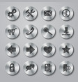 Website Icons Metal vector image vector image