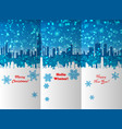 winter new year and christmas leaflet design vector image vector image
