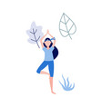 woman doing yoga vector image vector image