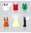 womens clothing eps10 vector image vector image