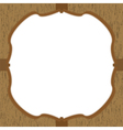 Wood pattern card vector image vector image