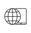 worldwide support icon on white vector image