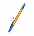 ballpoint pen icon vector image