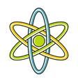 cartoon atom icon on white background vector image