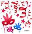 digital blue red carnival vector image