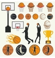 silhouettes of basketball vector image