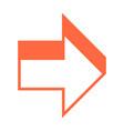3d arrow sign three dimensional icon vector image