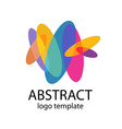 abstract colorful shapes logo template vector image