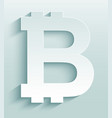 bitcoin symbol virtual cryptocurrency money vector image vector image
