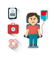 blood donation day tools icon vector image