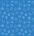 blue real estate seamless pattern vector image vector image