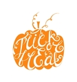 Calligraphic inscription Trick or treat vector image vector image