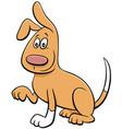 cartoon playful dog comic animal character vector image vector image
