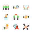 charity sponsorshipdonation and donor icon set in vector image vector image
