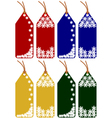 christmas or winter tags vector image