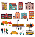 city environment set vector image vector image