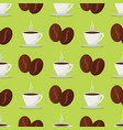 coffee cups beans drink seamless pattern vector image vector image