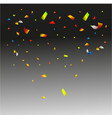 confetti isolated on transparent background vector image vector image