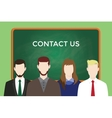 contact us business team stand vector image