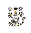 cute little tiger cartoon doodle vector image