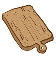 cutting board on white background vector image vector image