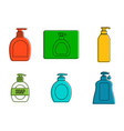 dispenser icon set color outline style vector image vector image