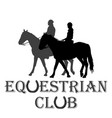equestrian club advertising vector image vector image