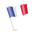 flag of france on the flagstaff vector image vector image