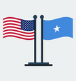 flag of united states and somaliaflag stand vector image vector image