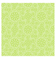 Floral green pattern vector image