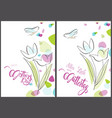 floral greeting card happy mothers day vector image
