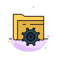 folder setting gear computing abstract flat color vector image vector image
