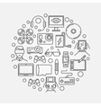 Gadgets round concept vector image vector image
