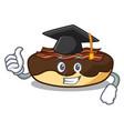 graduation maple bacon bar character cartoon vector image