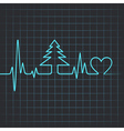 heartbeat make christmas tree vector image