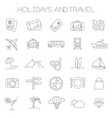 holidays and travel icons vector image vector image