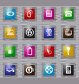 home appliances glass icons set vector image