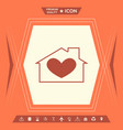 house with heart symbol vector image